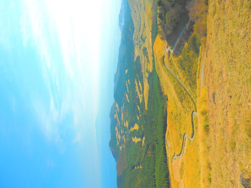 細野高原と伊豆の海