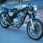 GN125 caferacer アルミタンク磨き後1