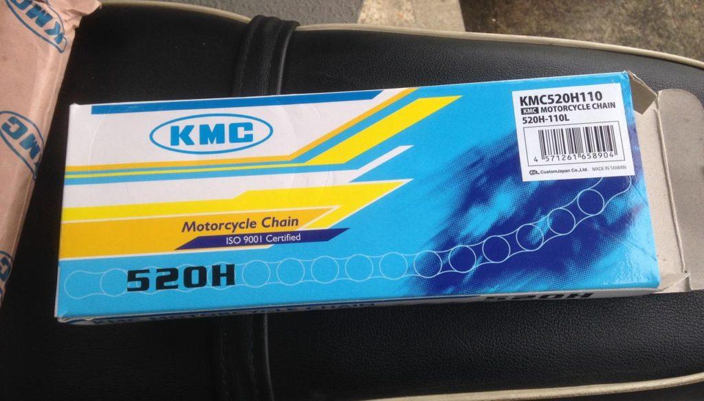 バイク用のKMCチェーンはそんなに悪くない。簡単にレビューなど