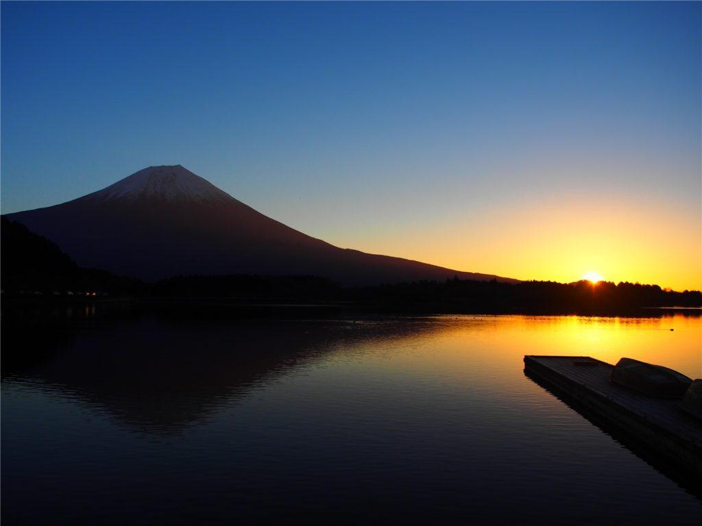 田貫湖で初日の出を見てきました@2017/01/01