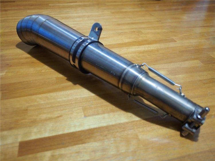 【グラディウス400 カスタム】マフラー交換しました。DanmotoのステンレスGP管です