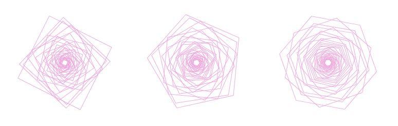 【Javascript】Canvasに多角形で「花」を描いてみる