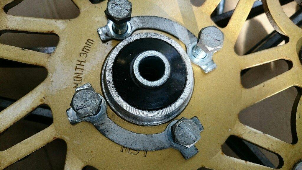 【GN125】300mmブレーキディスクを移植する