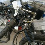 【GN125 カスタム】AdelinラジアルマスターとFrandoの4Podキャリパーを装着する。