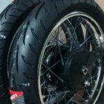 【250TR カフェレーサーカスタム4】タイヤ交換とホイール塗装します