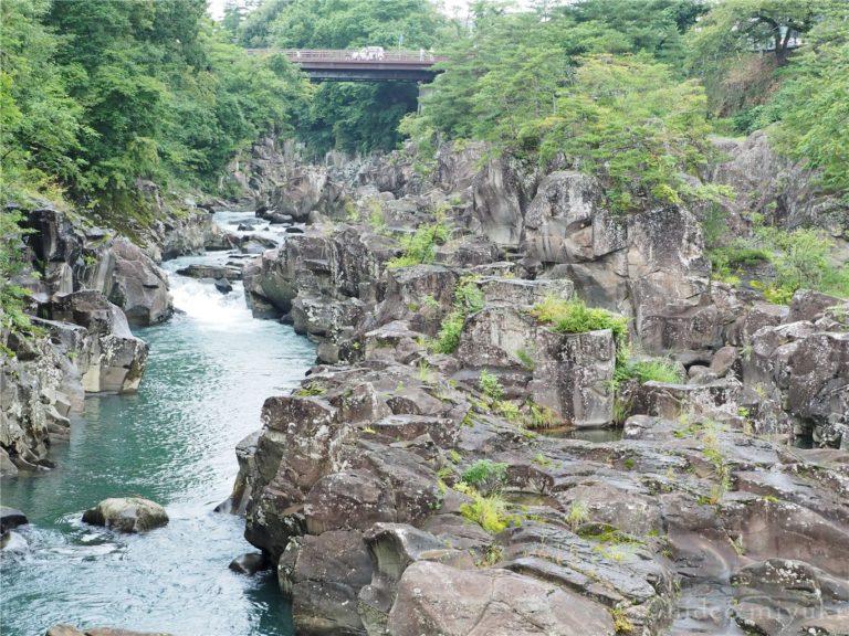 厳美渓(吊橋方向から)