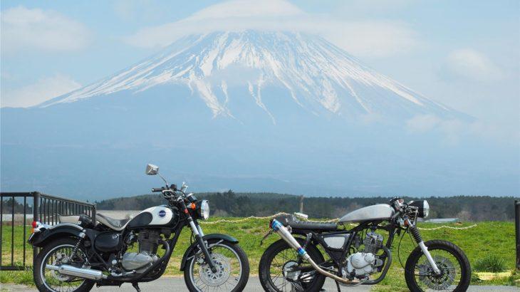 250ccと125ccのツーリング。