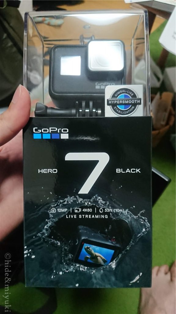 GoPro Hero 7 Black(新品)購入しました...