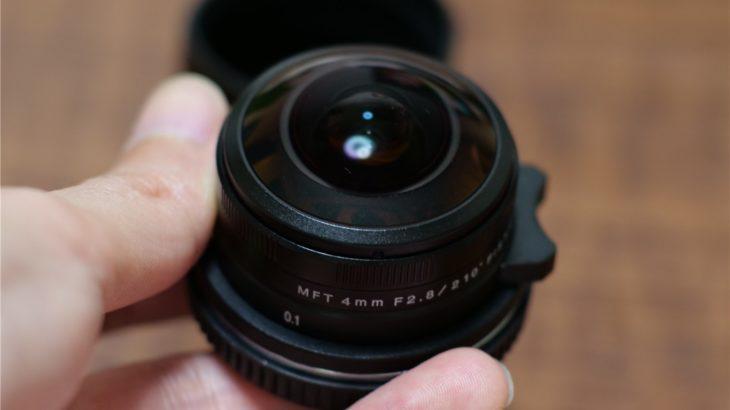 LAOWA 4mm F2.8のサイズはかなりコンパクト
