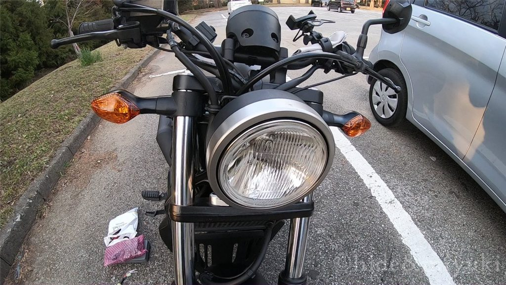 レブル250-ヘッドライト