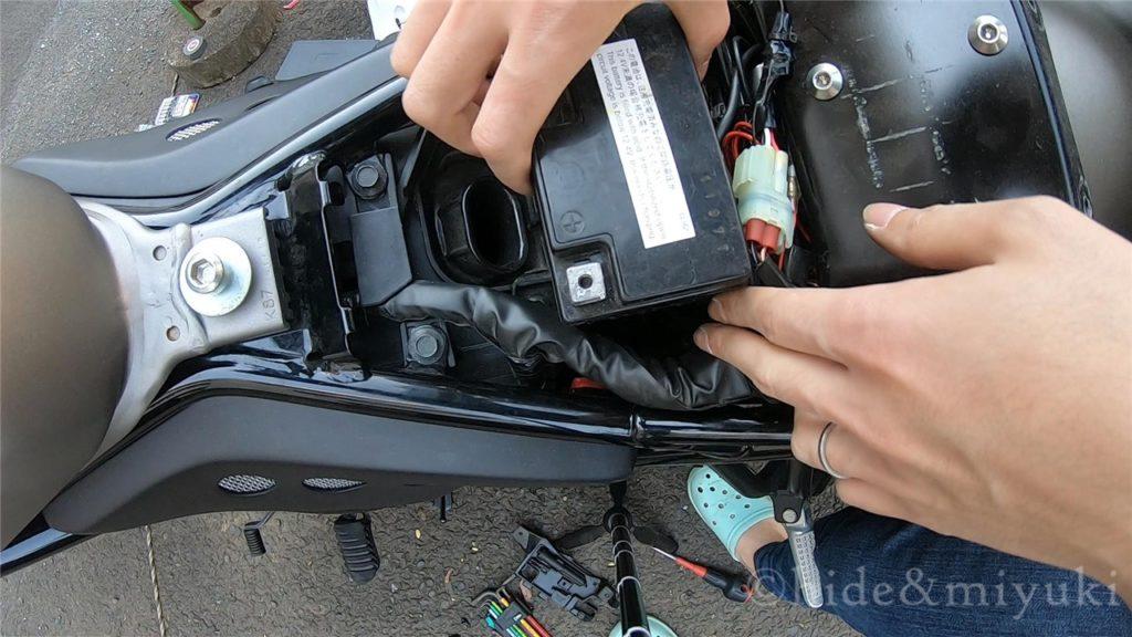 【レブル250】レブルのバッテリーの外し方【メンテナンス】